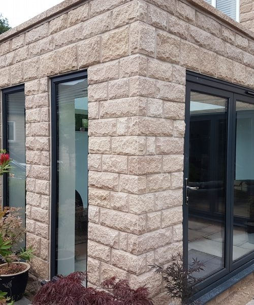Grey framed windows give a sophisticated finish to this new orangery in Shirebrook