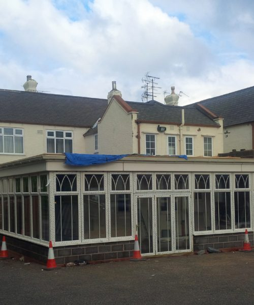 A new orangery in Derbyshire